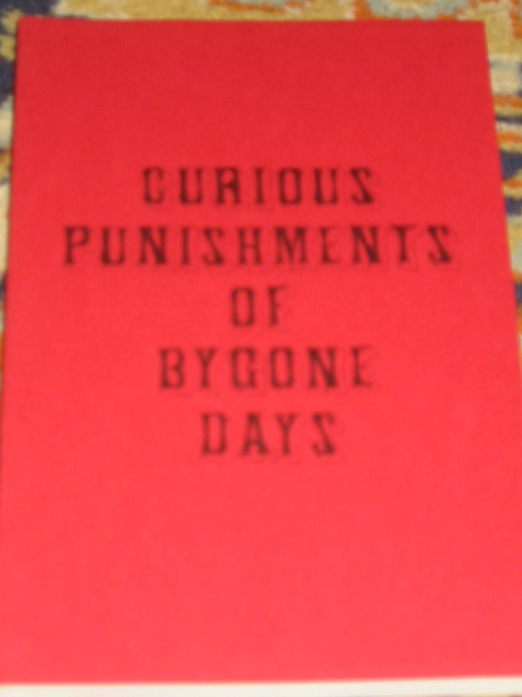 Image for Curious Punishments of Bygone Days