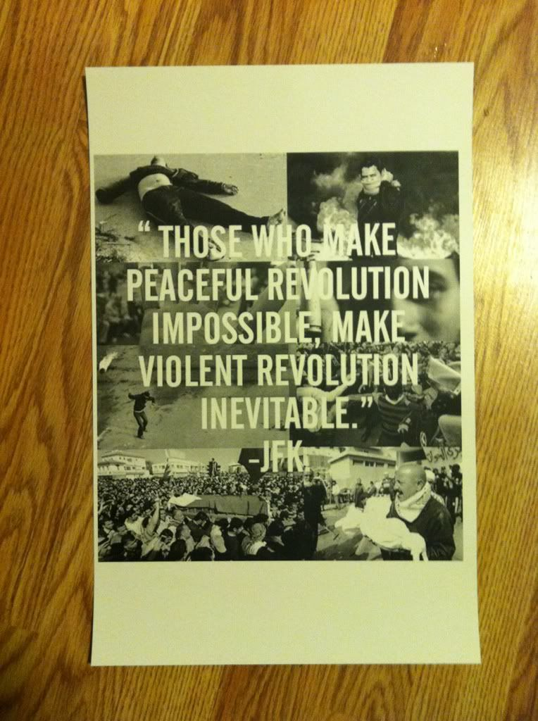 Image for Those Who Make Peaceful Revolution Impossible JFK Poster