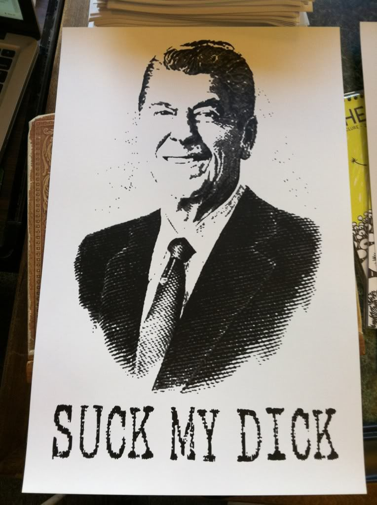 Image for Suck My Dick Ronald Reagan Reaganomics Poster