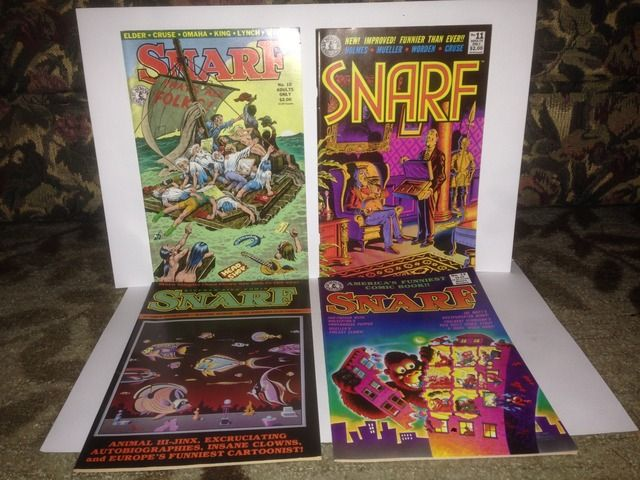 Image for Snarf x 4 Comic Book Lot Kitchen Sink Comix #s 10, 11, 13 & 14