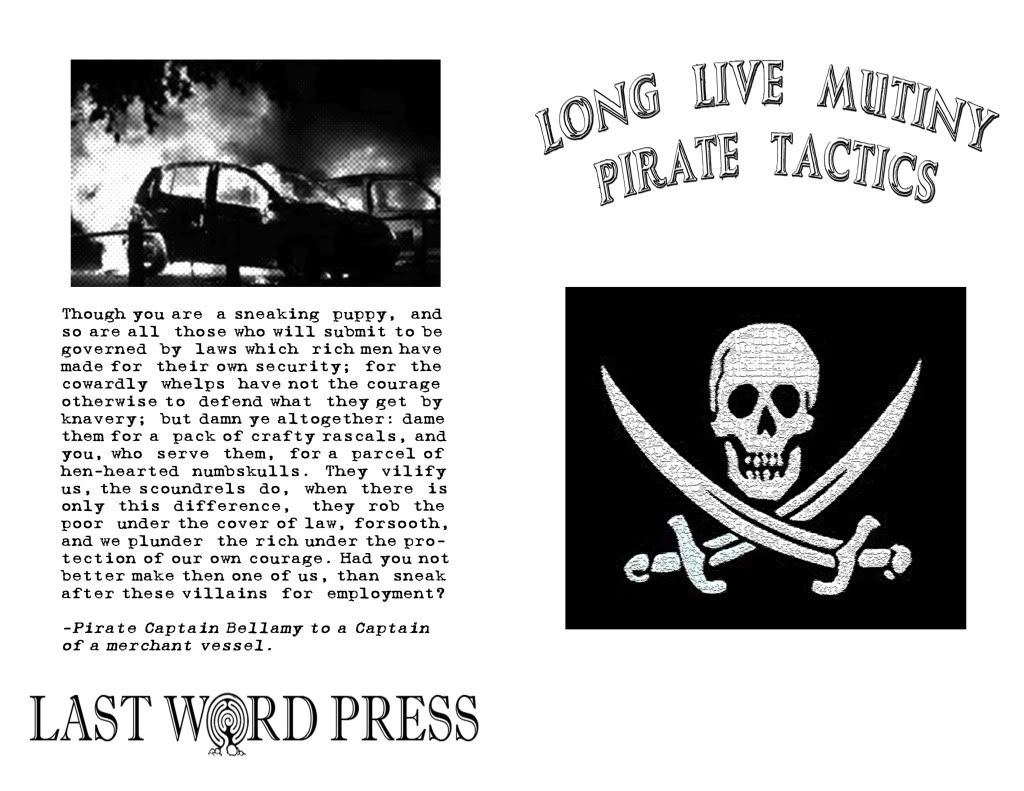 Image for Long Live Mutiny! Pirate Tactics by compiled and pirated by Cap'n Mayhem of the Drunken Boat Crew by compiled and pirated by Cap'n Mayhem of the Drunken Boat Crew
