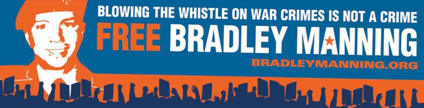 Image for Blowing Whistle War Crimes Bradley Manning Sticker