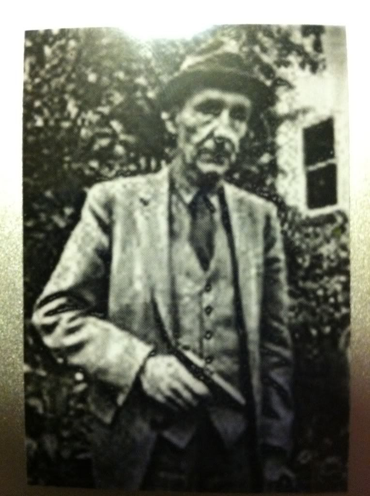 Image for William S. Burroughs Sticker with Gun Junky Beat