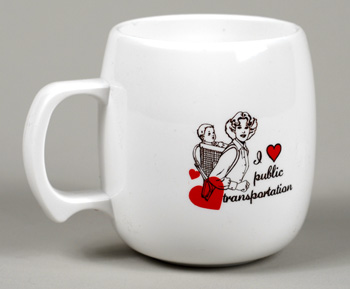 Image for I Love/Heart Public Transportation Coffee Mug
