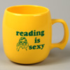 Image for Reading Is Sexy Corn Plastic Coffee Cup Mug