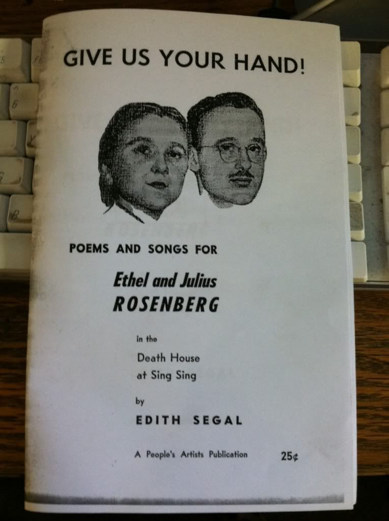 Image for Give Us Your Hand! Poems and Songs for Ethel and Julius Rosenberg in the Death House at Sing Sing